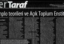 Taraf gazetesindeki yazının ekran görüntütüs